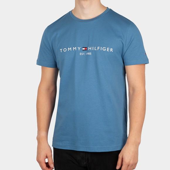 Tommy Hilfiger Mens Blue Tommy Logo T-Shirt