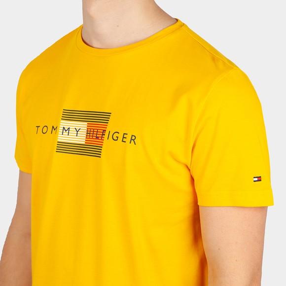 Tommy Hilfiger Mens Yellow Lines Hilfiger T-Shirt main image