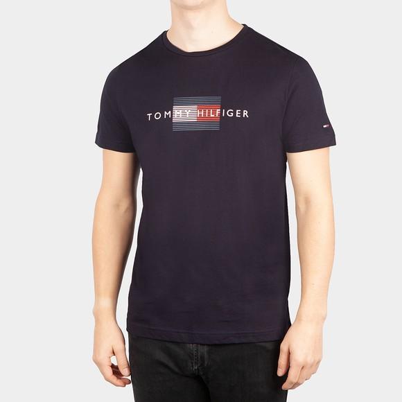 Tommy Hilfiger Mens Blue Lines Hilfiger T-Shirt