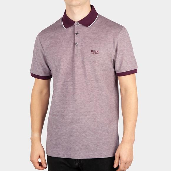 BOSS Mens Purple Formal Prout Polo Shirt