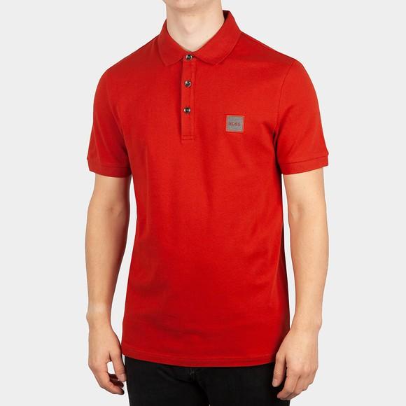 BOSS Mens Red Casual Passenger 1 Polo Shirt