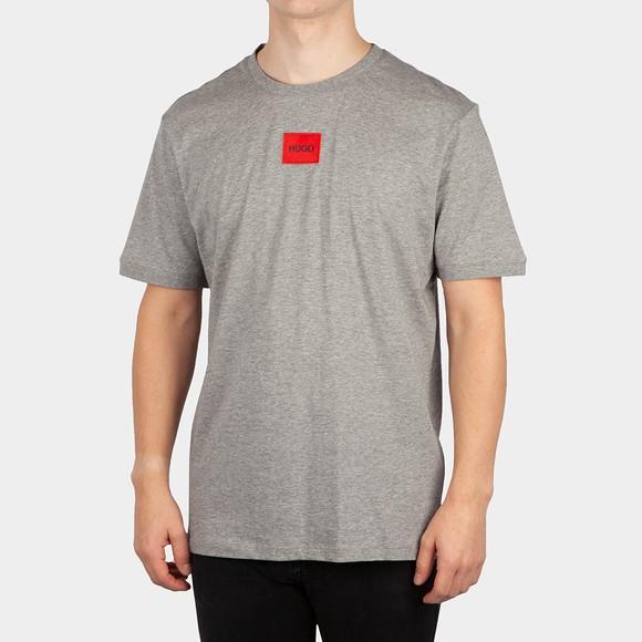 HUGO Mens Grey Diragolino T-Shirt