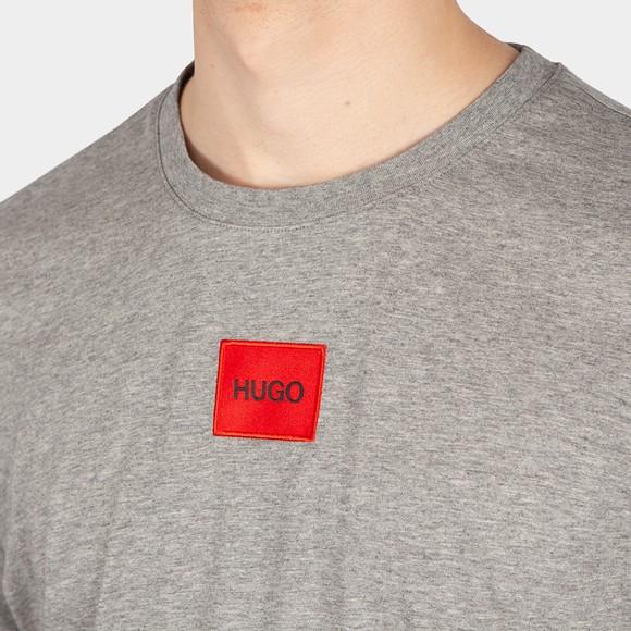 HUGO Mens Grey Diragolino T-Shirt main image