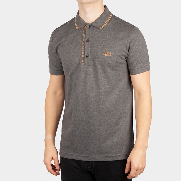 BOSS Mens Grey Athleisure Paule 4 Polo Shirt