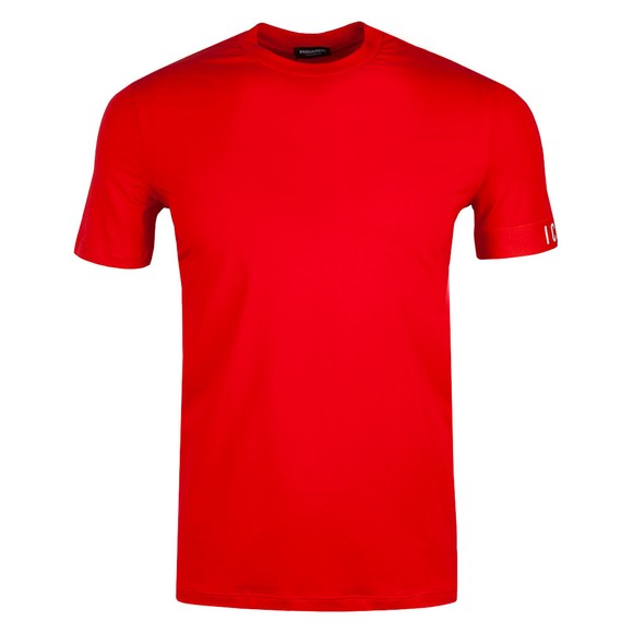 Dsquared2 Mens Red Icon Sleeve T Shirt