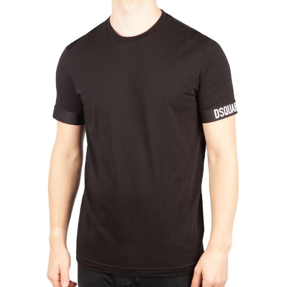 Dsquared2 Mens Black Basic Sleeve Logo T Shirt