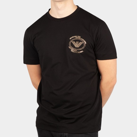 Emporio Armani Mens Black Circular City T-Shirt main image