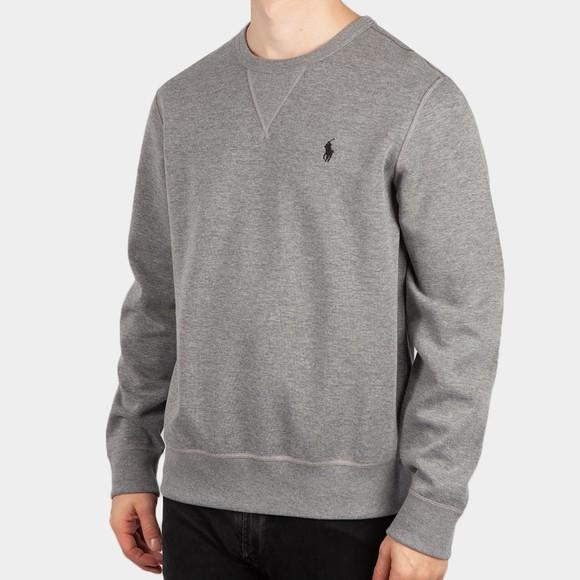 Polo Ralph Lauren Mens Grey Double-Knit Sweatshirt