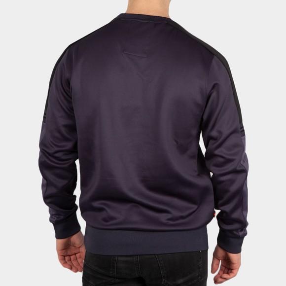 Luke Sport Mens Blue Patter Colour Block Sweatshirt main image