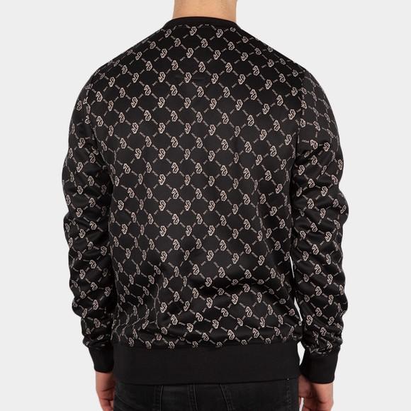 Luke Sport Mens Black Gazzas Tears Overprint Sweatshirt main image
