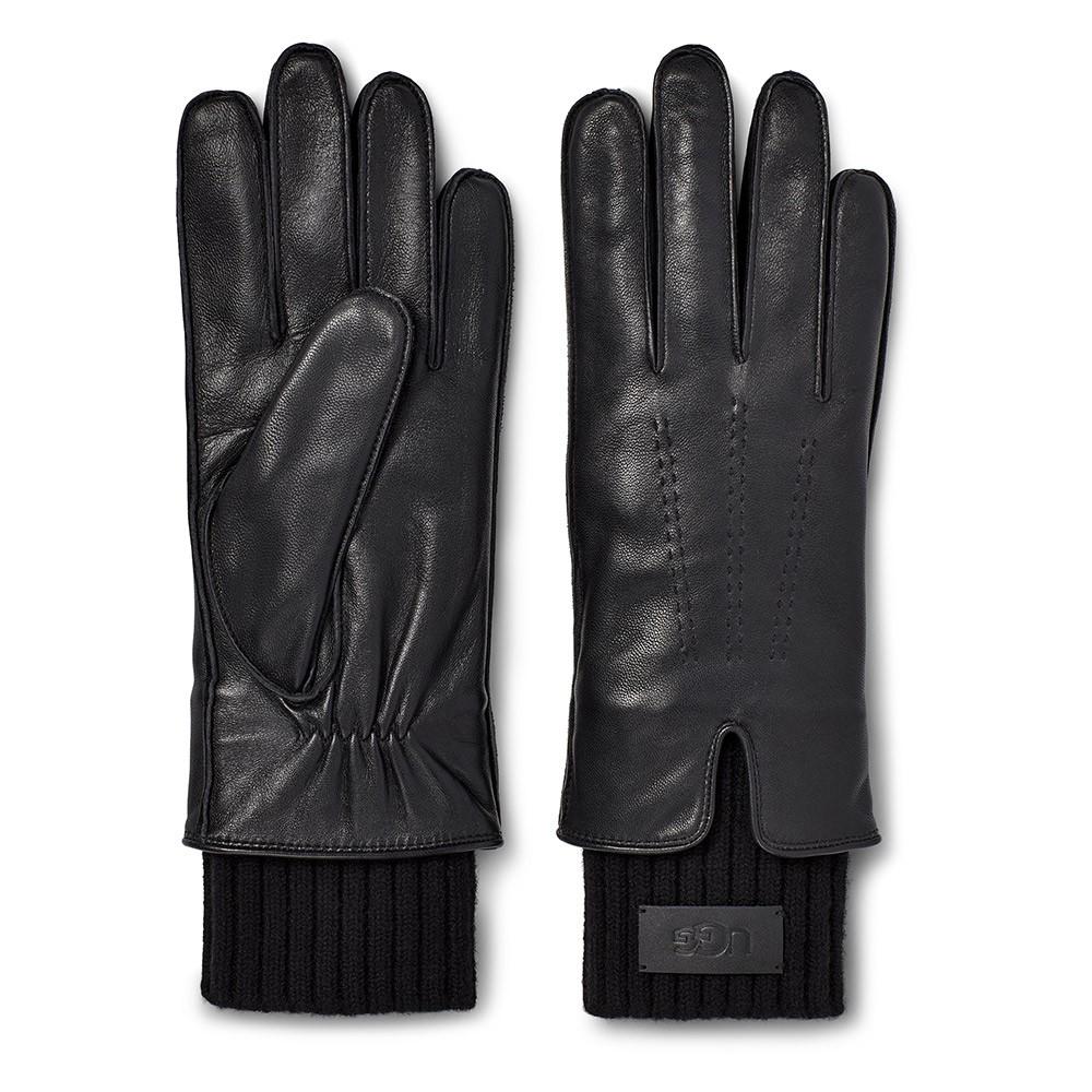 Leather Tech & Knit Cuff Glove main image