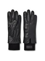 Leather Tech & Knit Cuff Glove