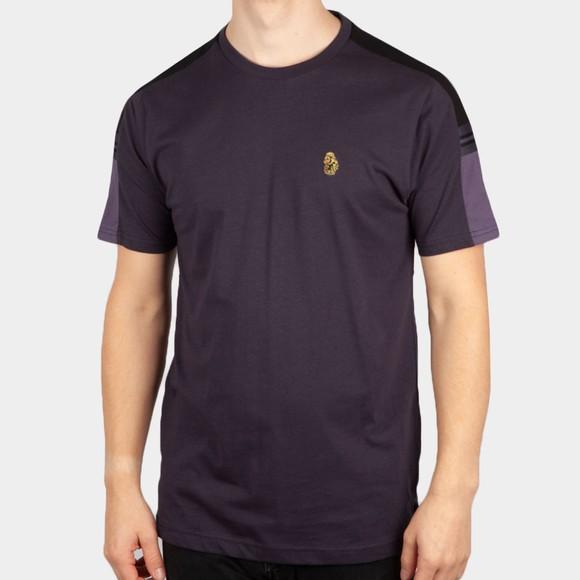 Luke Sport Mens Blue Hail Colour Block T-Shirt