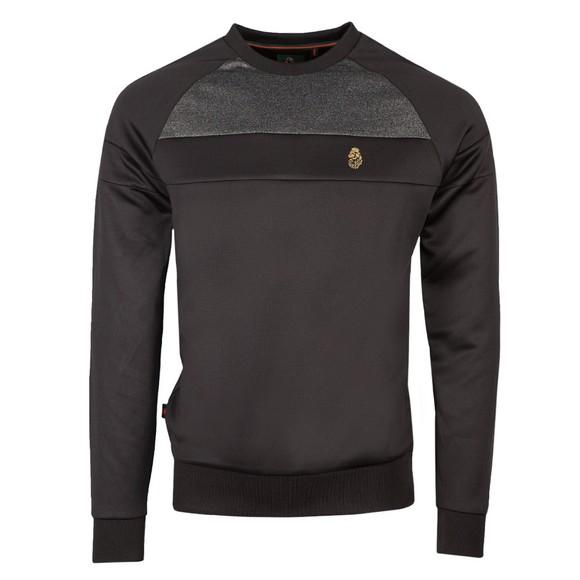 Luke Sport Mens Black Adam 3 Detail Crew Sweatshirt