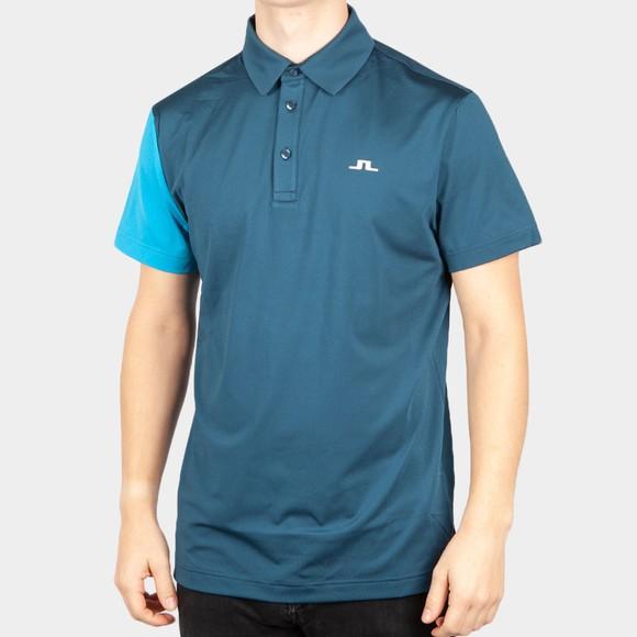 J.Lindeberg Mens Blue Simon Regular Fit Golf Polo Shirt