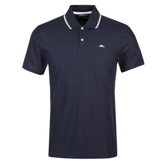 J.Lindeberg Mens Blue River Collar Tip Pique Polo Shirt