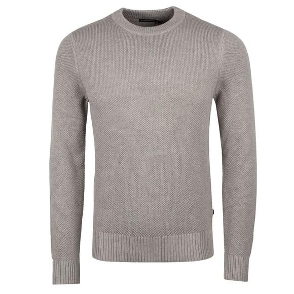 J.Lindeberg Mens Grey Oliver Structure Sweatshirt