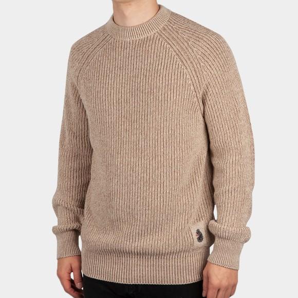 Luke 1977 Mens Off-White Crew Neck Plated Knit