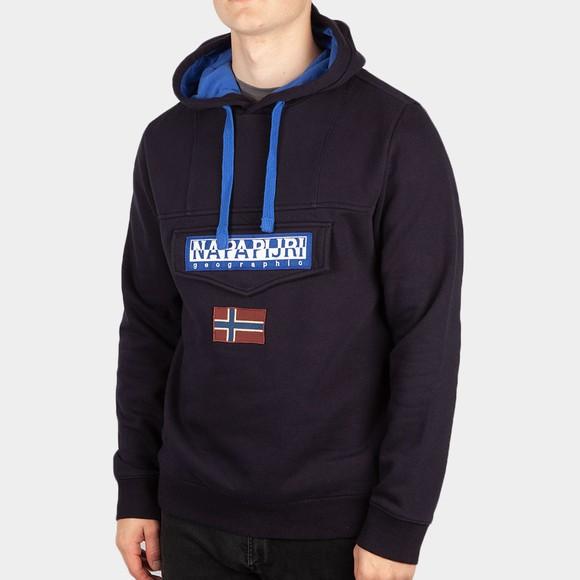 Napapijri Mens Blue Burgee Winter 1 Hoodie