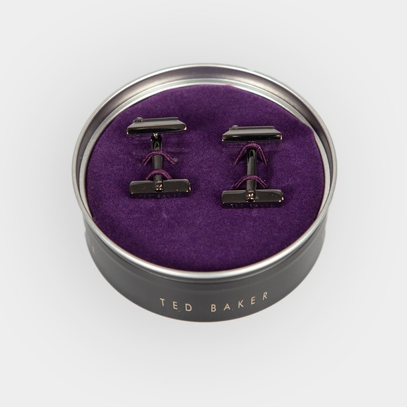 Ted Baker Mens Grey Golcuff Contrast Square Cufflink