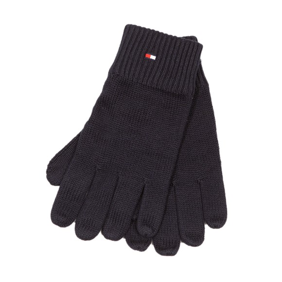 Tommy Hilfiger Mens Blue Pima Cotton Gloves