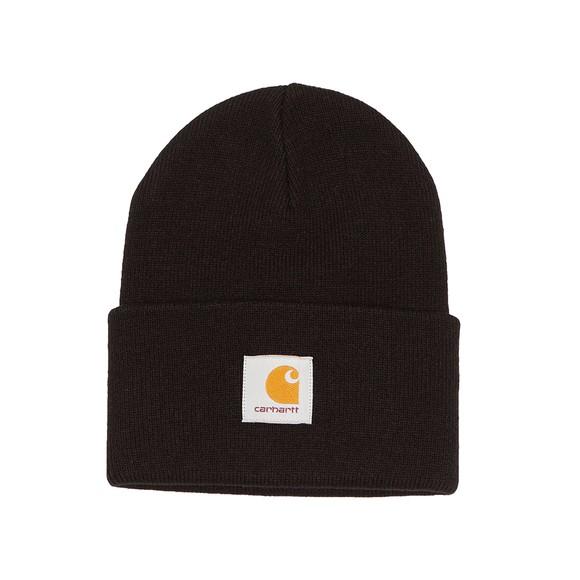 Carhartt WIP Mens Black Acrylic Watch Hat