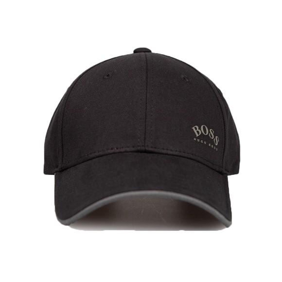 BOSS Mens Black Athleisure Curved Logo Cap