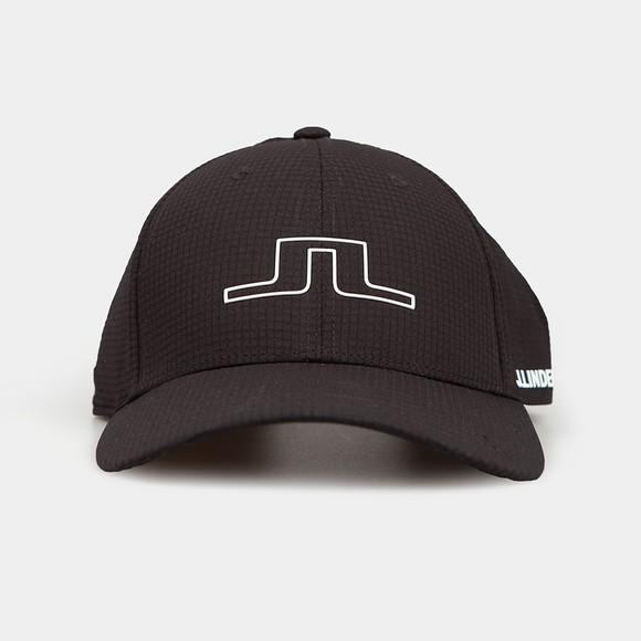 J.Lindeberg Mens Black Caden Golf Cap