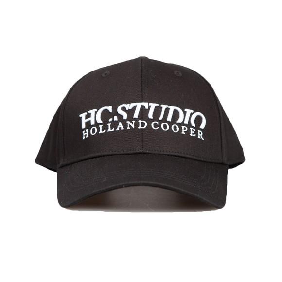 Holland Cooper Womens Black Studio Cap