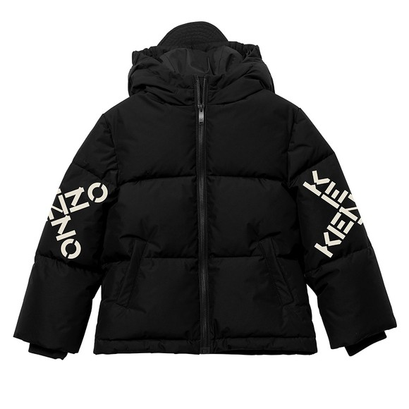 Kenzo Kids Boys Black Cross Logo Puffer
