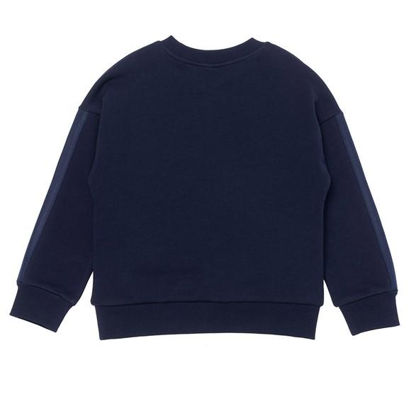 Kenzo Kids Girls Blue K15138 Cross Logo Sweatshirt