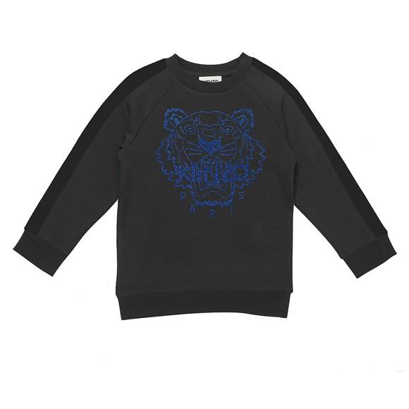 Kenzo Kids Boys Grey Embroidered Tiger Sweatshirt