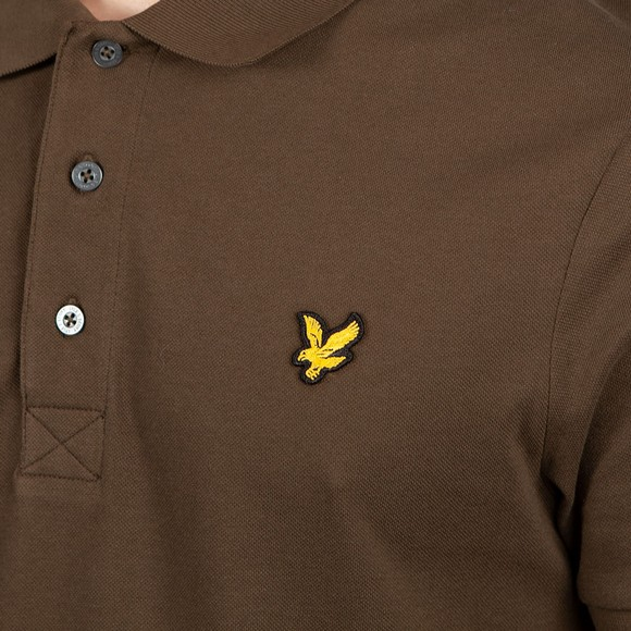Lyle and Scott Mens Green Polo Shirt main image