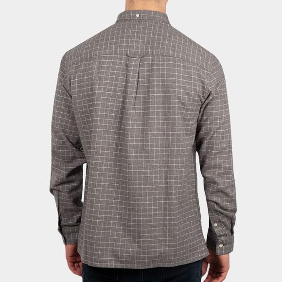 Lyle and Scott Mens Grey Grid Check Shirt main image