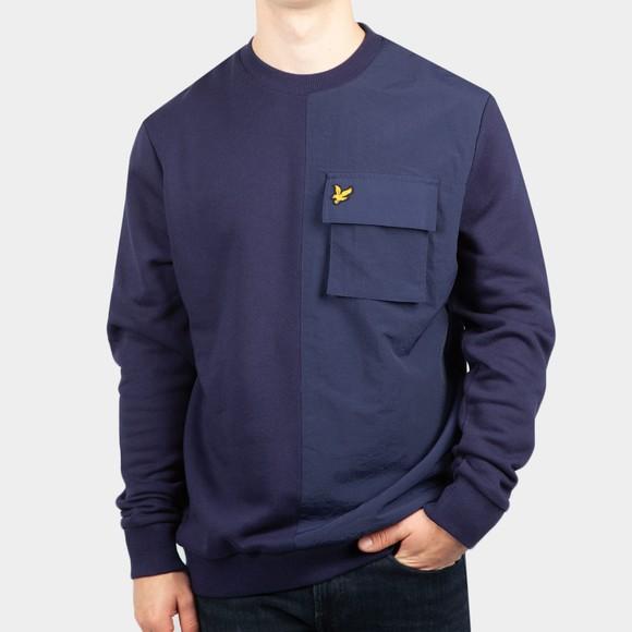 Lyle and Scott Mens Blue Tech Pocket Sweatshirt
