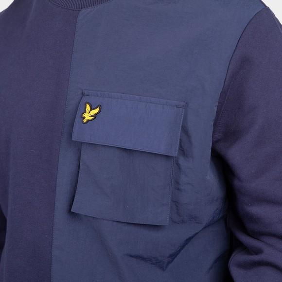 Lyle and Scott Mens Blue Tech Pocket Sweatshirt main image