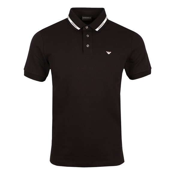 Emporio Armani Mens Black 6K1F73 Polo Shirt main image