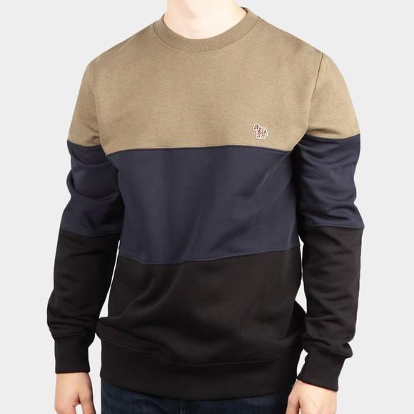 PS Paul Smith Mens Black Colour Block Sweatshirt
