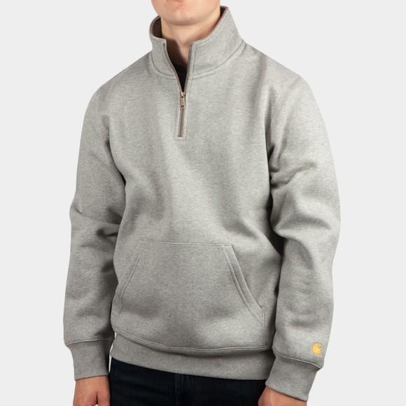 Carhartt WIP Mens Grey Chase Half Zip Sweatshirt