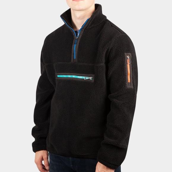 PS Paul Smith Mens Black 1/2 Zip Fleece