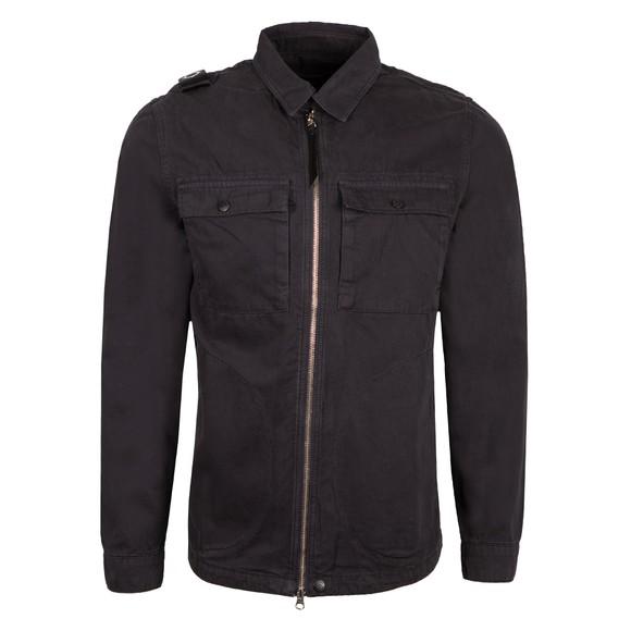 Ma.Strum Mens Blue Zip Front Overshirt