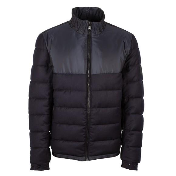BOSS Mens Blue Cink Mixed Material Jacket