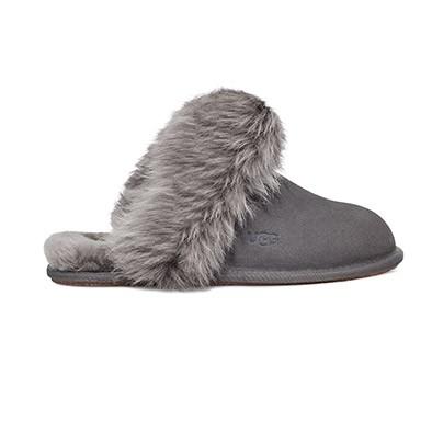 Ugg Womens Grey Scuff Sis Slipper