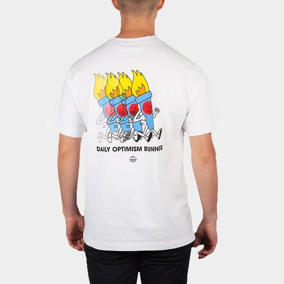 Edmmond Studios Mens White Daily Optimism T-Shirt main image