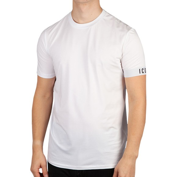 Dsquared2 Mens White Icon Sleeve T Shirt