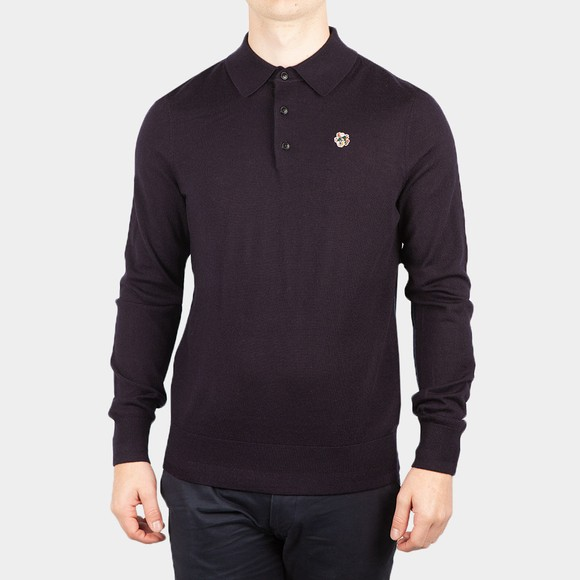 Ted Baker Mens Blue L/S Core Polo Shirt