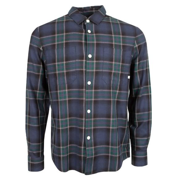 Farah Mens Blue Hillman Check Shirt