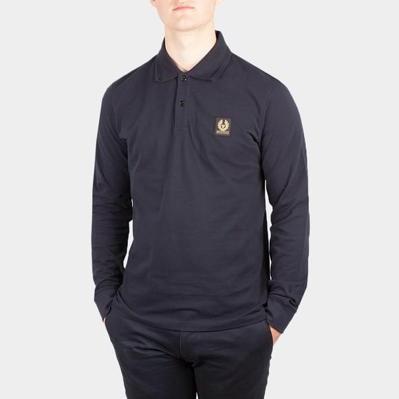 Belstaff Mens Blue Essential Long Sleeve Polo Shirt