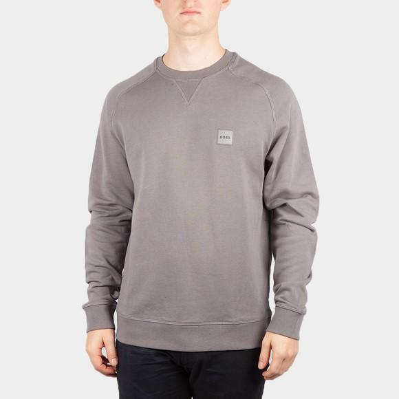 BOSS Mens Grey Casual Westart Sweatshirt