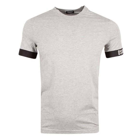 Dsquared2 Mens Grey Basic Sleeve Logo T Shirt